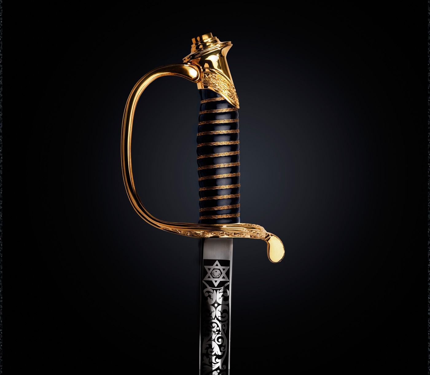 The handle and blade of a M1859 NCO Sword.