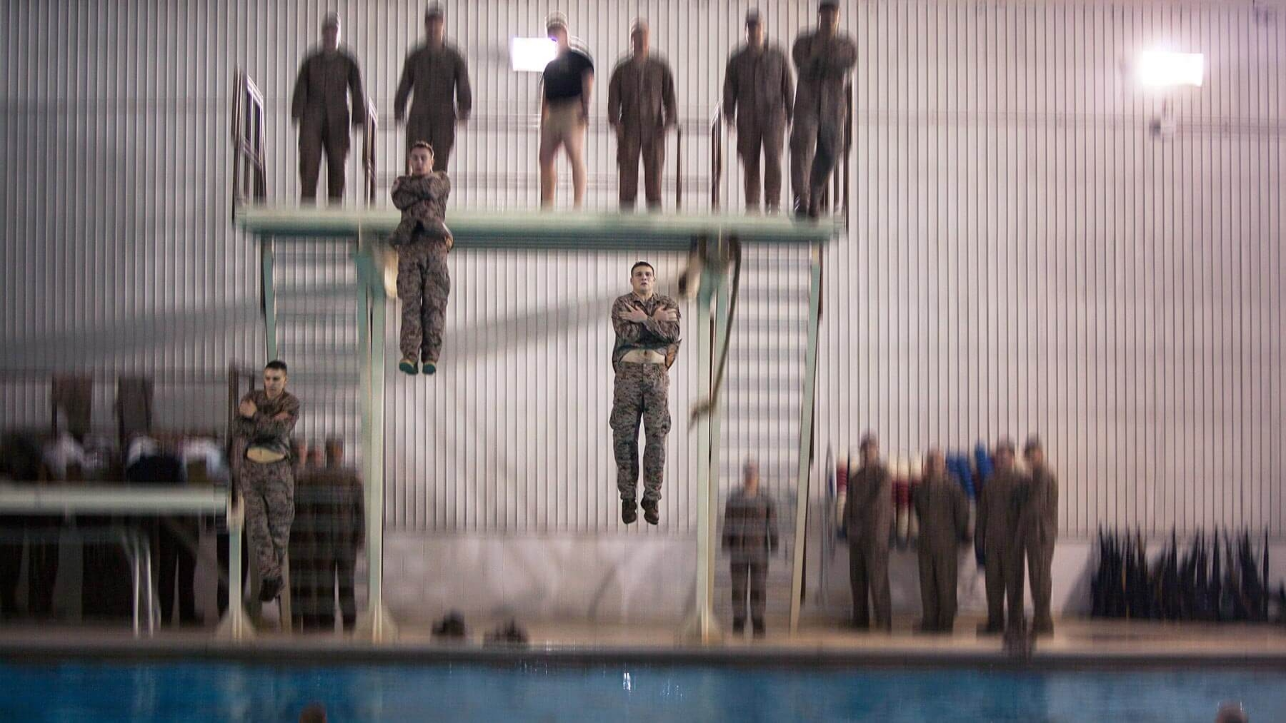 Every recruit must pass basic water survival training.