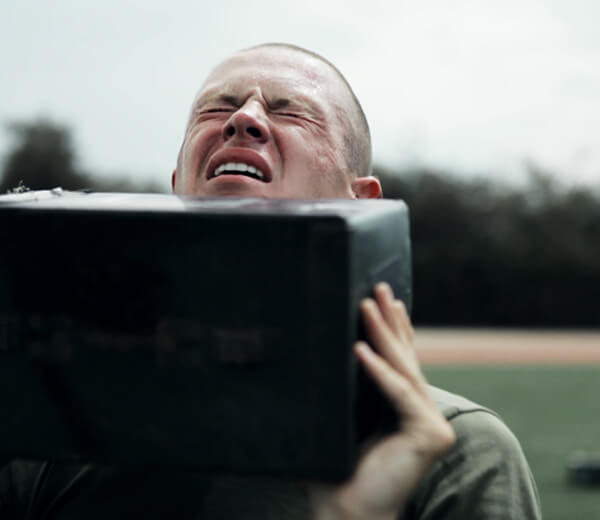 Recruits must overcome exhaustion and fatigue during recruit training.