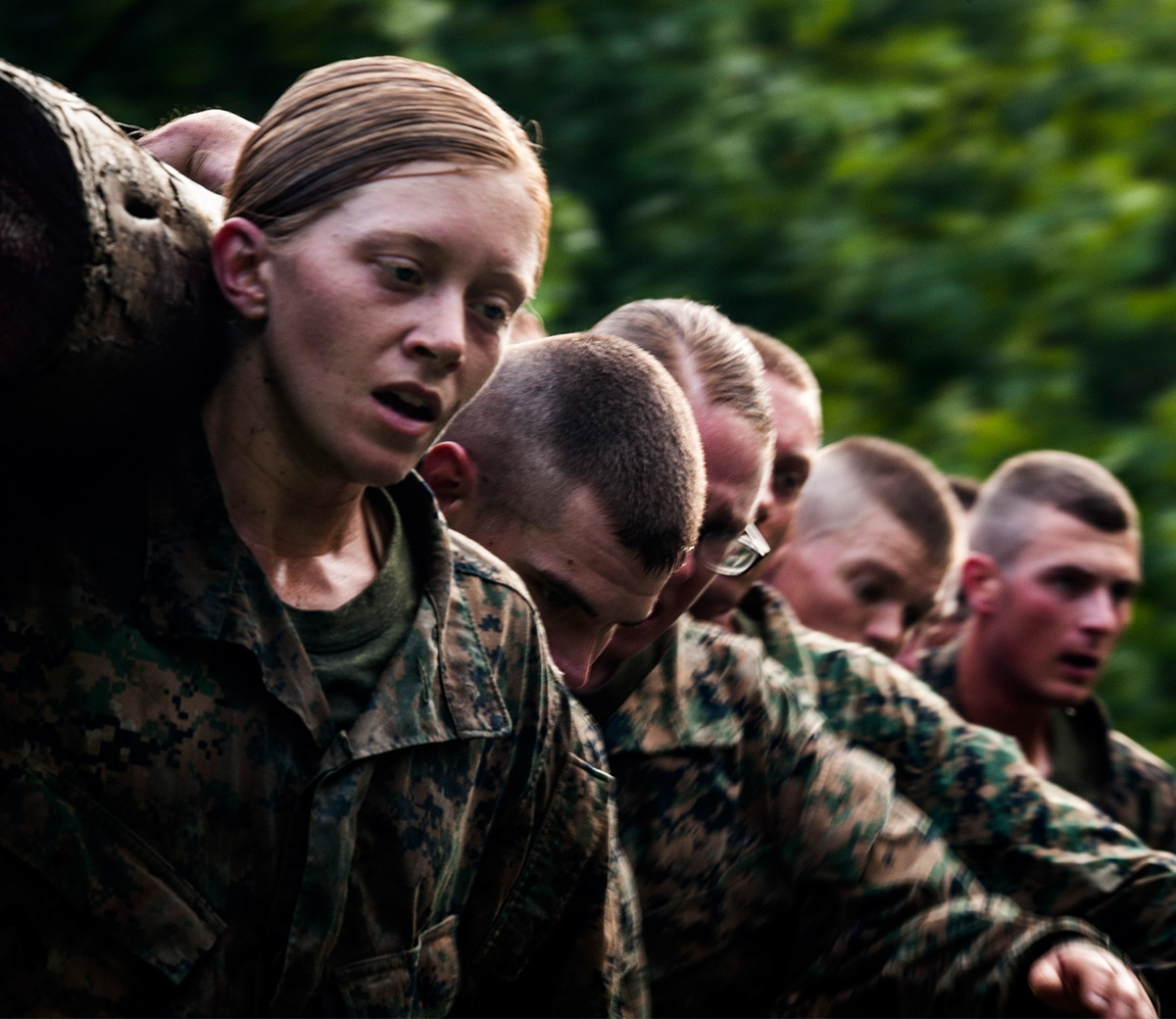 Marine Officer training tests leadership ability.