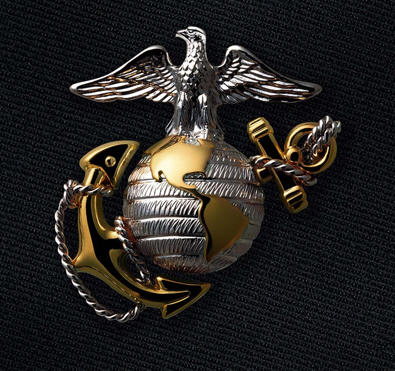 The Eagle Globe And Anchor Emblem Of A Marine Officer