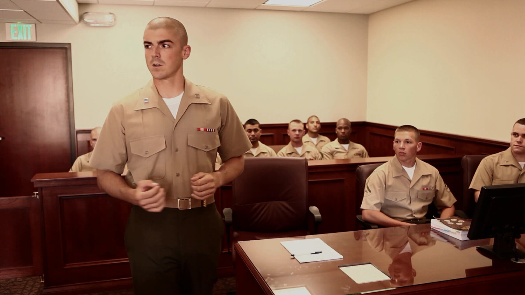 Long form video highlighting the Marine Corps Judge Advocate Program.