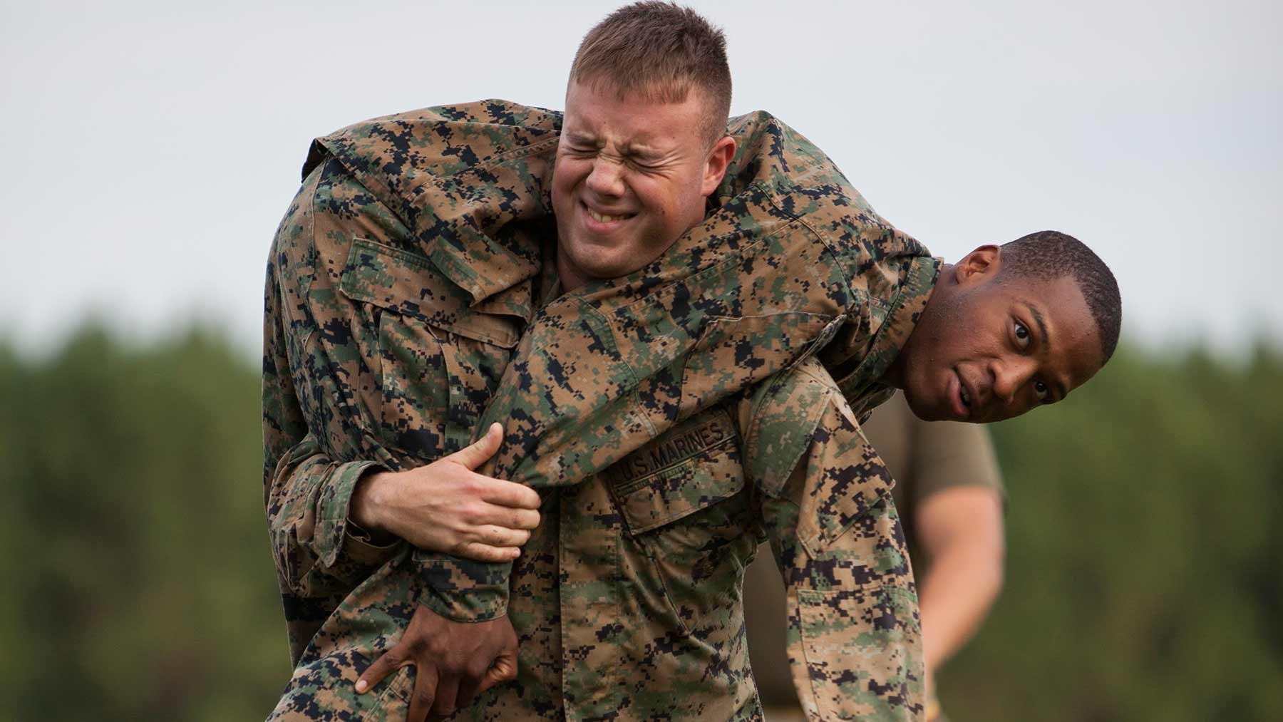 The fireman's carry is an effective way to carry injured Marines.