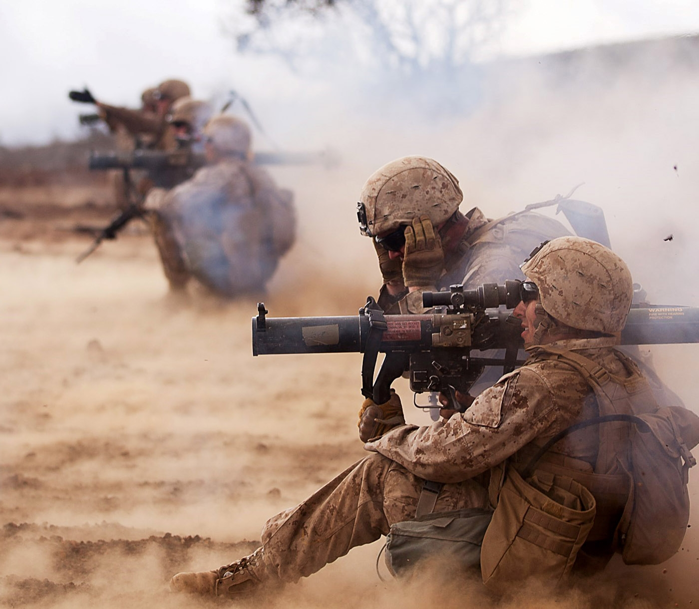 Reserve Marines practice live fire weapons training.
