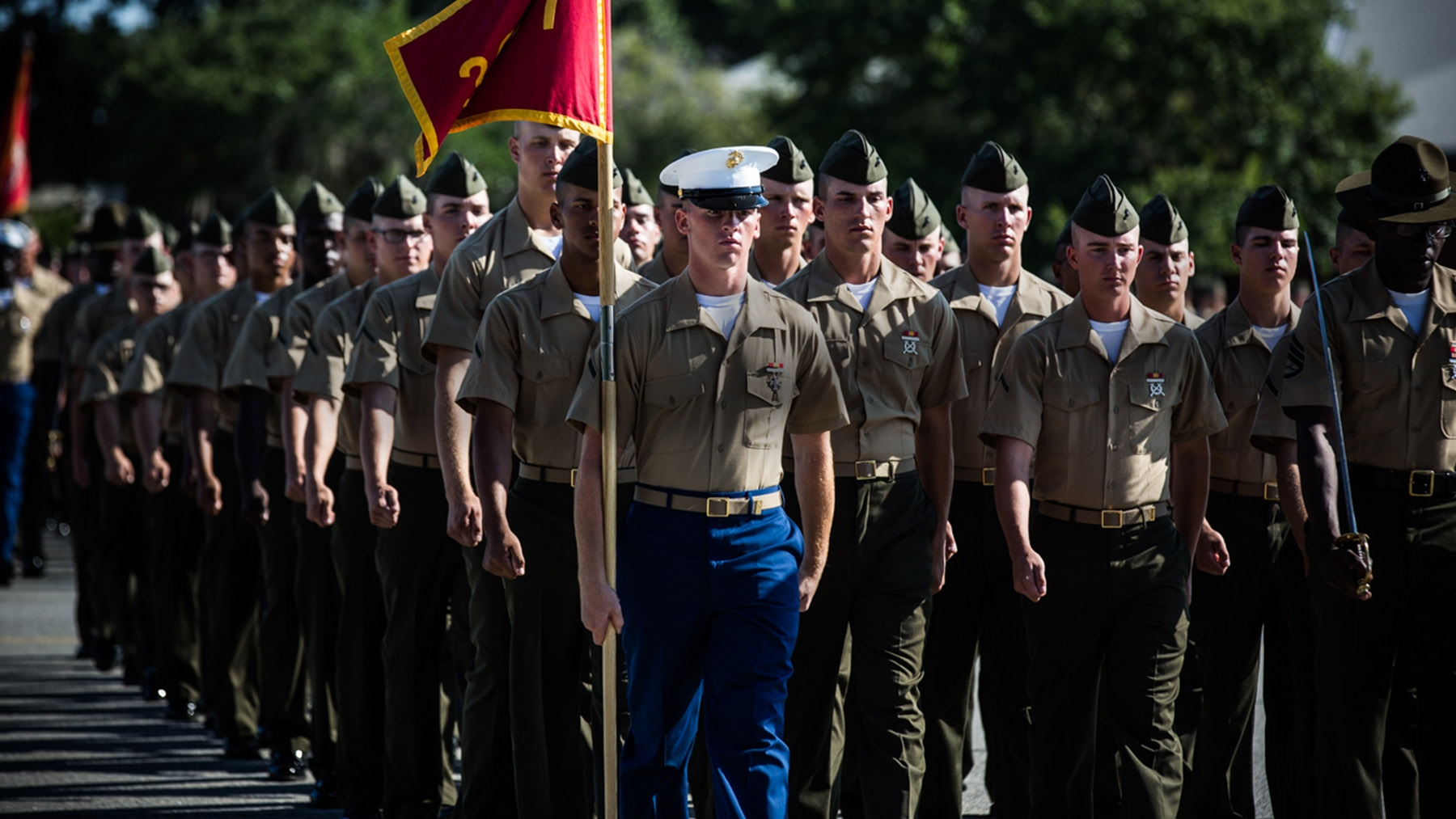 Marines graduation parade