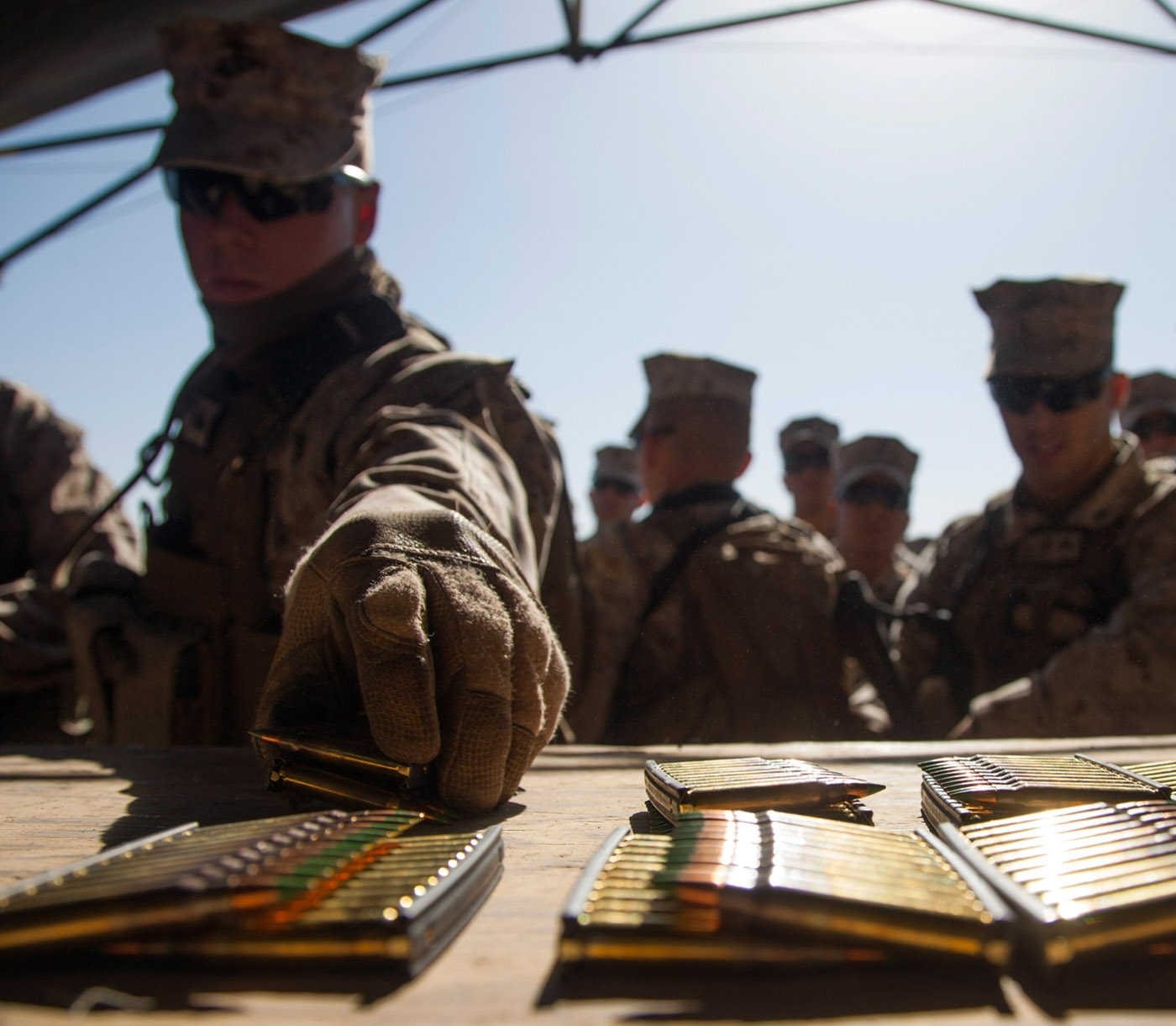 Marines select ammunition.