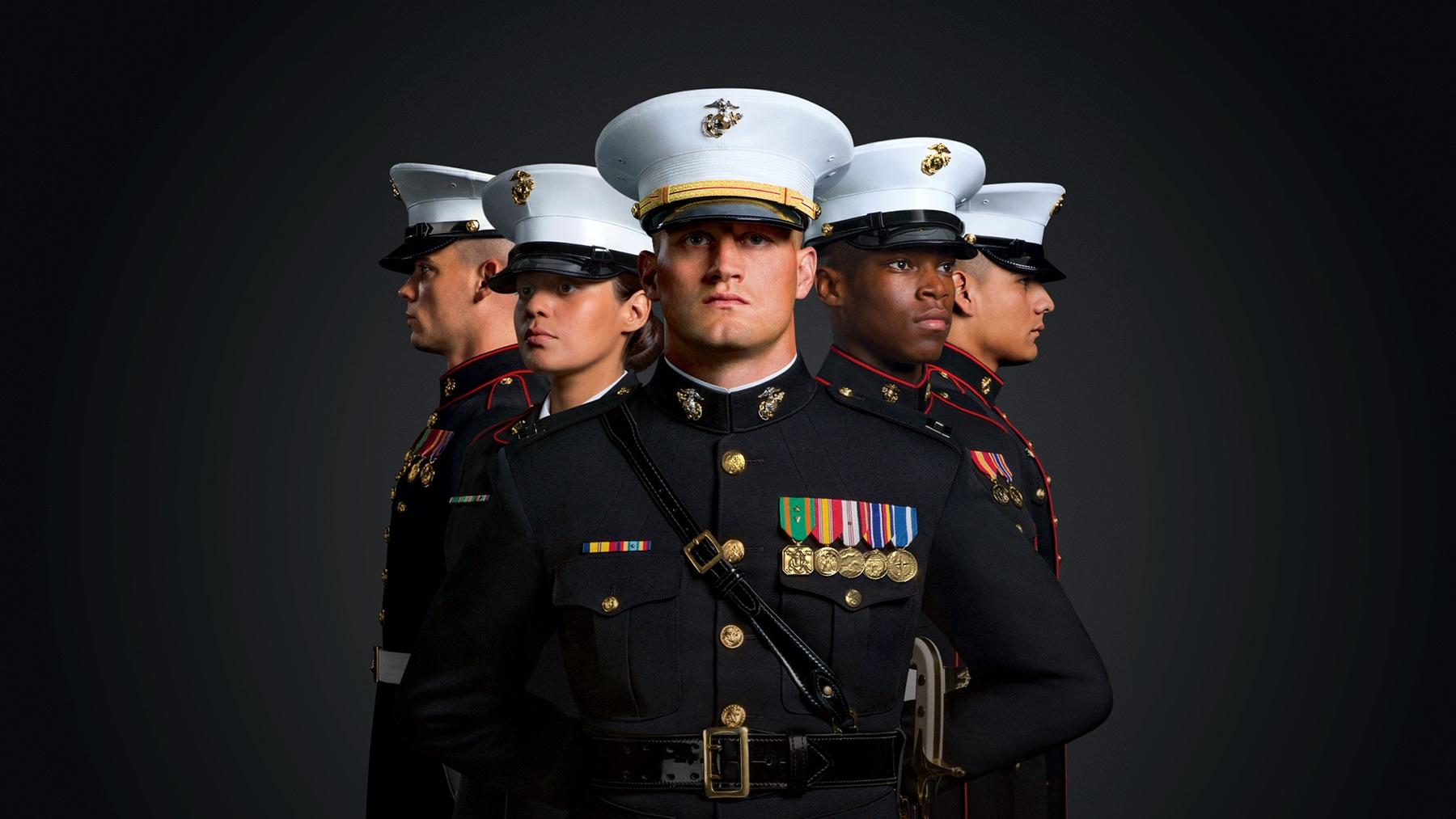 United States Marine Corps Marine Recruiting Marines