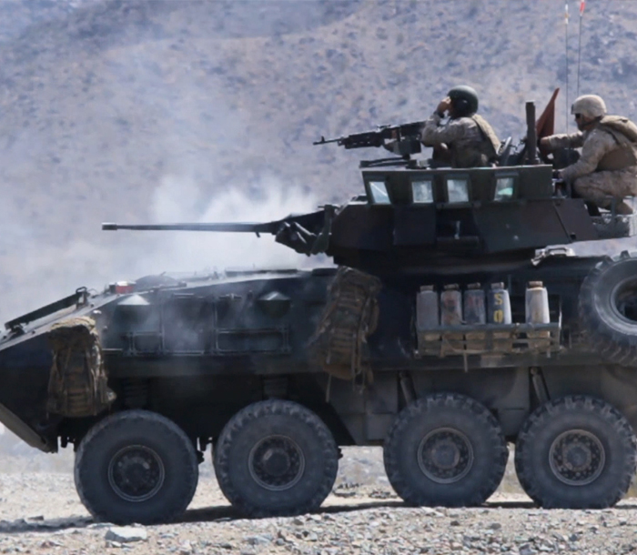 Video showcases the vehicles used by Marines.