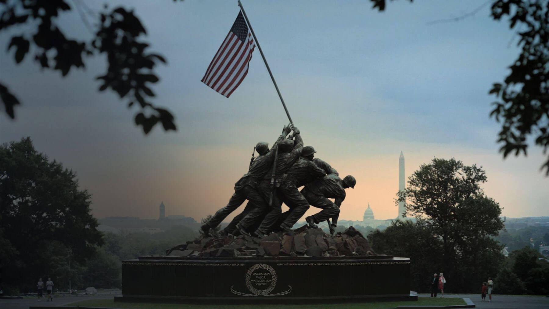 The Iwo Jima Memorial at the U.S. Marine War Memorial in Washington, D.C.