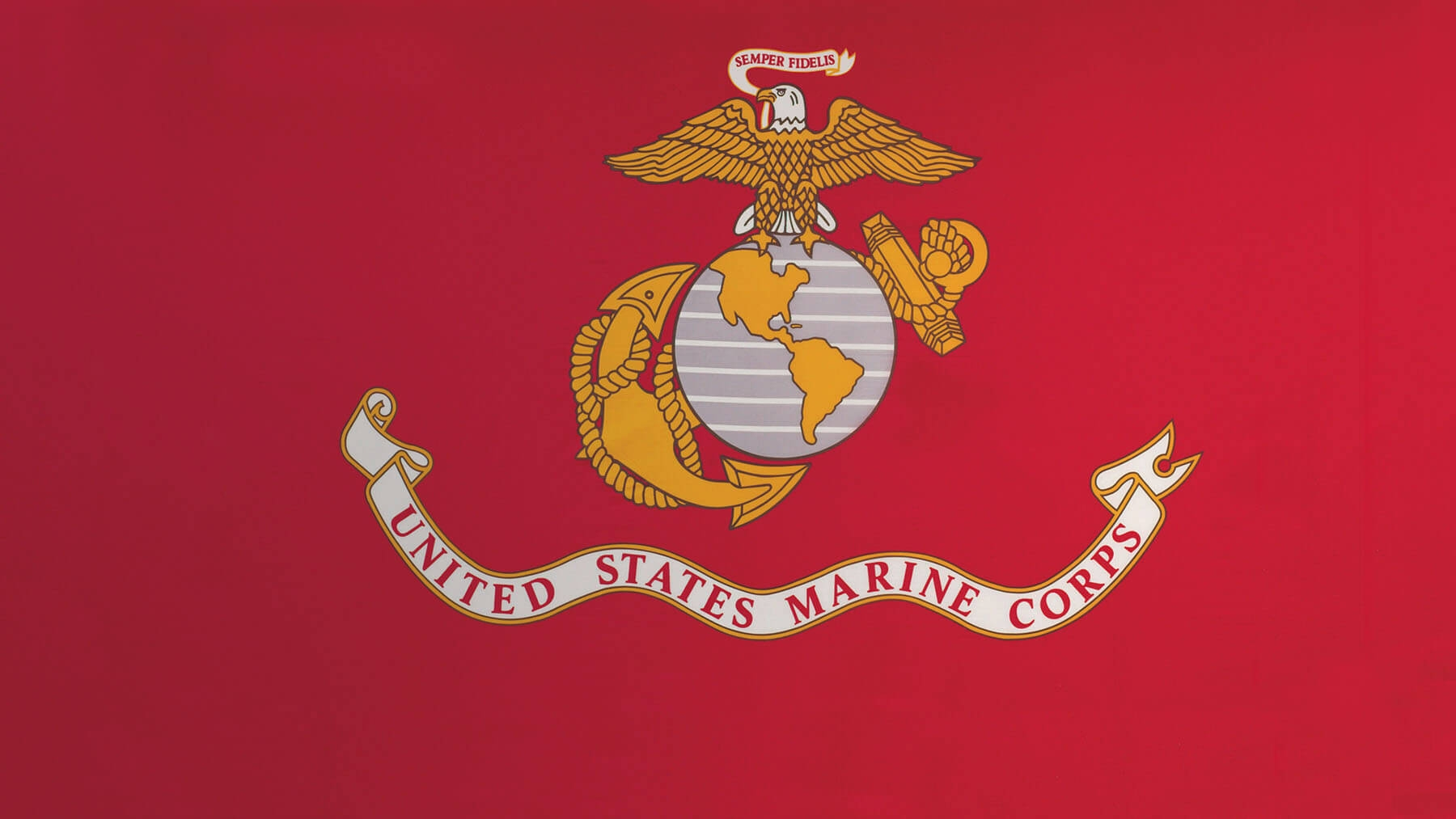 The Marine Corps Flag.